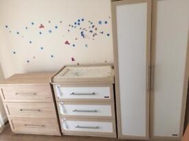 Mamas&papas 3 pices set baby furniture