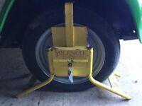 Milenco high security caravan/trailer/motorhome wheel clamp