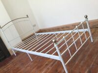 Metal Single Bed No Mattress / Can Deliver