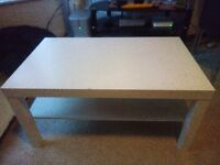 Coffee table (IKEA, white) used £7