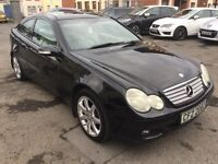 """Mercedes c180 coupe 17"""" alloys leather seats"""