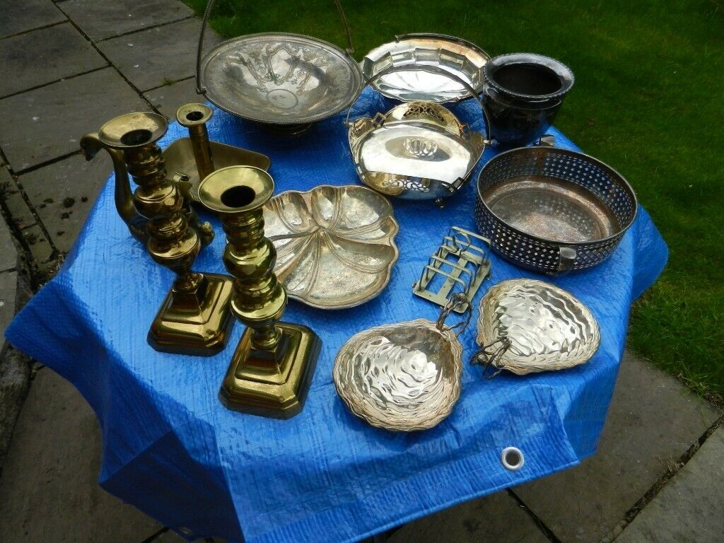 Old Silver Plate Brass Items Accumulation Spring Clean Clear Out In Cumbernauld Glasgow Gumtree