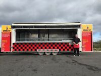 3 axel 22ft catering trailer