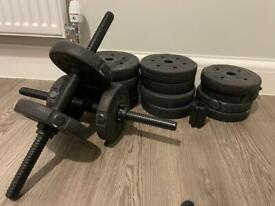 Adjustable dumbbells/barbell weights