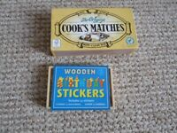 Brand new small wooden toys ~ birthday stickers and beads