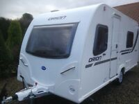 Bailey Orion 430-4 caravan 2013. 4 birth, fixed bed. Motor mover and awning included.
