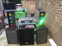 DJ SET - speakers, controller, lights