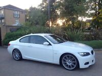 BMW 335d (08) M Sport Coupe Twin Turbo F1 Paddle shifts i-DRIVE rare spec FSH FULLY LOADED