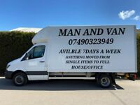 PROFESSIONAL MAN AND VAN SERVICE TO MOVE SINGLE ITEMS/HOUSE MOVES