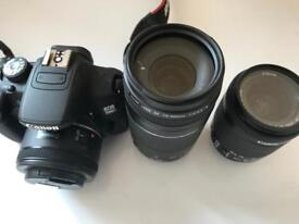 Canon 700D with 2 Zoom lenses - in Beeston (Cash and Collection Only)