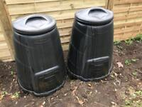 2x composters, compost bins
