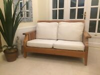 Sofa and Armchair hardwood framed for lounge or conservatory