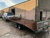 "Indispension 2.6t tilt bed car plant trailer with sides 16"" long 6""6' wide"
