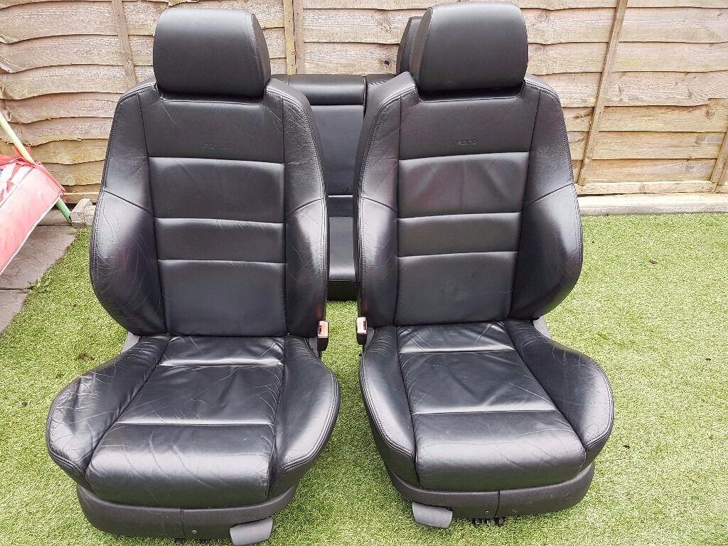 Mk4 Golf Black Leather Heated Recaro Seats 5 Door In
