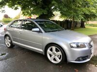 2008 Audi A3 S line 2.0 Tdi 140bhp *Black leather* acquires silver Full MOT!