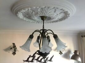 Beautiful pair of Ceiling and pair wall Lights (4 Light fittings in total)