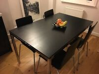 Black Kitchen Table & Chairs