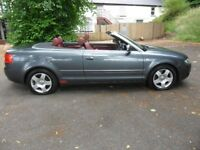 AUDI A4 1.8 LITRE CONVERTIBLE, AUTOMATIC, PRIVATE PLATE INCLUDED