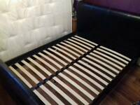 Kingsize black faux leather bed frame *bargain*