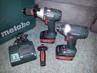 Metabo 18v LTX Impact and Combi Hammer Drill Set 5.2Ah Brand New