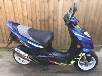 Suzuki ay50 katana sport r 50cc scooter moped 12 months mot