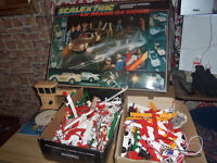 very large collection of scalextric includes 2 full boxes of crash barrier etc 300 pieces approx
