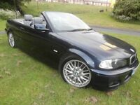 2002 /02 BMW 325 CI / SPORT / CONVERTIBLE / 1 OWNER / BMW SERVICE HISTORY/ HPI CLEAR / STUNNING CAR