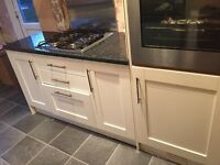 Kitchen doors- Job lot, Oak doors hand sprayed cream/ with handles
