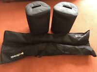 Yamaha StagePAS 400i PA system with covers plus heavy-duty stands in bag