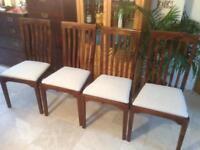 Set Of 4 Laura Ashley Garrat Dining Chairs