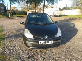 quick sale black clio with low millage and good condition