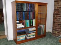 Meredew Solid Teak Bookcase with Integrated Display Unit - £80 ono (2 of 2)