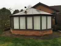 Hardwood conservatory 6m x7m