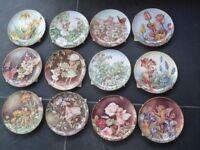 Set of 12 Festival Of Flower Fairies Plates. Ideal Christmas/Birthday Gift.