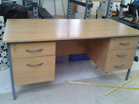 office desk with drawers with set of keys