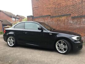 "BMW 120d M sport coupe, 62 plate, metallic black, full leather, 18"" Alloys, FSH, MOT till May 18"