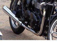 Triumph Bonneville 865 & SE, Exhaust Header / Front pipes from a 2009 - taken off bike when new