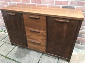 Dark Wood Side Board Cabinet
