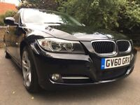 BMW 3 SERIES 2.0 318d Exclusive BLACK Full BMWSH LEATHER £30 Tax 65k Mileage May PX 07400400348