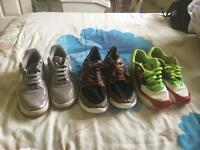 9 pairs of shoes