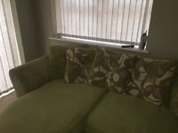 3 seater, arm chair and matching curtains . Smoke and pet free home