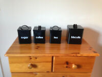 Black Kitchen Canisters - new