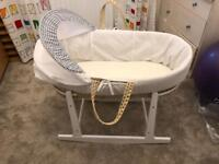 Baby Moses basket and rocking stand!