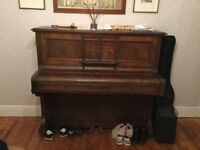 Edwardian, upright piano, free to collect.