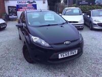 2009 FORD FIESTA EDGE 1.4 DIESEL TDCI IN BLACK *PX WELCOME* 12 MONTHS MOT £1995