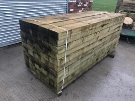 🍂 Pressure Treated Wooden/ Timber Railway Sleepers > New