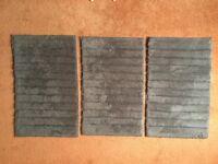 3 New Bathmats, Grey 81 x 50cm