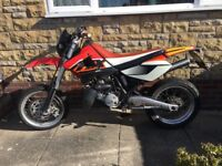Aprilia mx 125 full power super moto rotax supermoto not rs125 kx cr yz ktm road reg 2 stroke