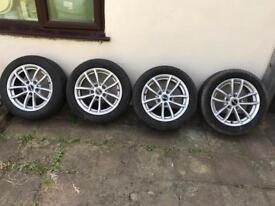205 55 16 Goodyear efficient tyres and BMW alloys wheels