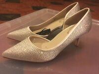 Diamante bridal wedding shoes - size 5